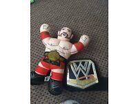 WWE wrestling buddy and light up belt
