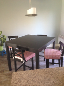Ikea Bar Style Table and 4 Chairs and cushions