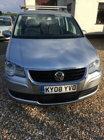 2008 VW TOURAN 1.9 TDI SE 7 seats.
