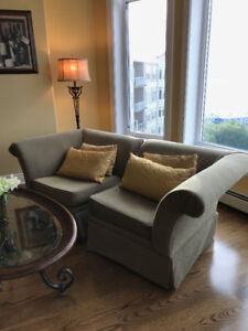NEW PRICE for TWO CORNER CHAIRS = LOVESEAT