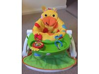 FisherPrice Giraffe Sit-Me-Up Feeding Booster Seat with Tray