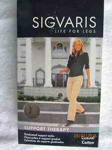 Sigvaris white knee-high compression socks white ladies sport