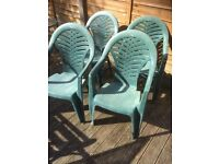 set of 4 garden patio chairs £10