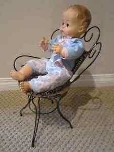 Old Fashioned Wicker and Metal Doll Chair Regina Regina Area image 4