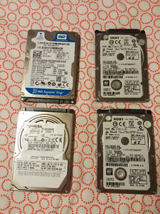 4 hard drives different capacities