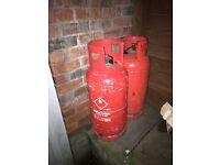 Full propane gas bottles