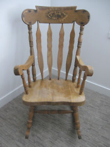 Vintage, wooden rocking chair