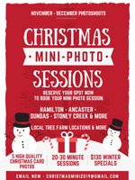 Christmas Photoshoots - Winter Mini-Photo Sessions Book Now!