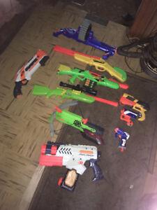 Old Nerf & Buzzbee toy guns