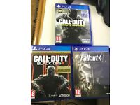 PS4 games call of duty infinite warfare fallout 4