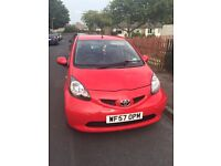 Chill Red Toyota Aygo VVT-I (57) for sale - full service history