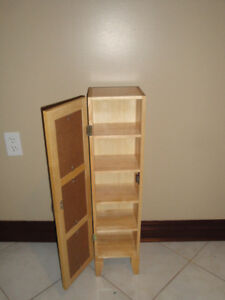 WOOD CD CABINET STORAGE- LIKE NEW (Paid $200) London Ontario image 3