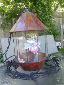 Stained Glass Terrarium with Light