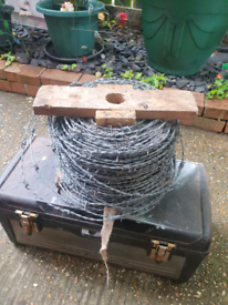 Large Roll Of Barbed Wire
