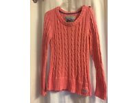 Superdry pink jumper XL
