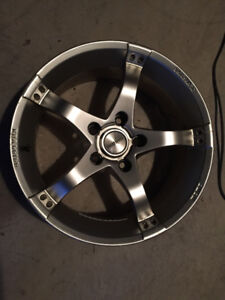 "17"" Momo alloy rims light weight 5 x 120 winter use OK cond"