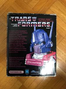 optimus prime g1 head transformers statue bust diamond