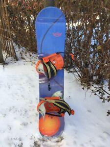 VENDUE :) Snow / Planche à neige – Filles –  115 cm