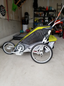Chariot Cougar 2 Running Stroller with Bike Trailer Kit