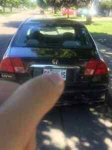 2002 Honda Civic Berline pneu d'hiver ,auncun problème,économiqu