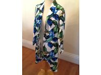 Size 12 leaf print coat