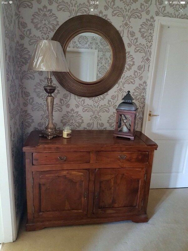 Shesham wood side board and lamp table.