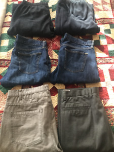 assortment of size large pants