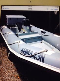 zodiac 4.2mt jet powered boat 2 stroke yamaha  60hp motor