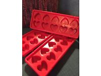 3 x Heart shaped ice trays