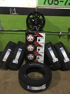 "Jeep Wrangler 18"" Mayhem Riot Alloy Wheel & 5 Tire Packages"