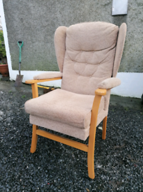 Wingback chair. Delivery available