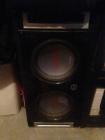 """12""""Alpine type R subs with box"""