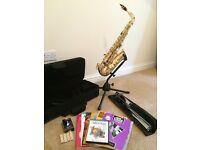 Artemis Alto Saxophone and Accessories