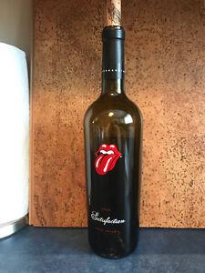 Rolliing Stones Satisfaction Wine Bottle (Empty)