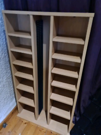 DVD and CD storage unit
