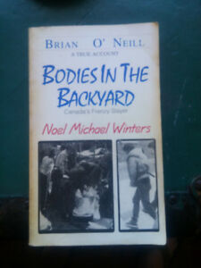 BODIES IN THE BACK YARD BOOK, GOOD SHAPE.