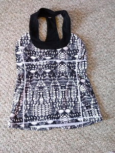 Lululemon tank top black and white