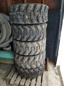 Skid Steer Tires & Wheels Set of 16.5 x 12 - $1500
