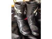 Alpinestars motorbike boots size 11