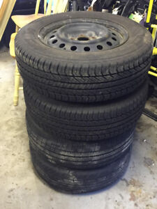 4 GOOD CONDITION SUMMER TIRES - 215/65 R16
