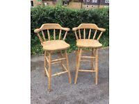 Pair of breakfast bar stools