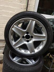 16 inch 4 stud five spoke alloys