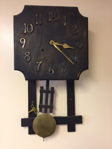 Rare GILBERT 8 DAY MISSION STRIKE MODEL 55-D WALL CLOCK