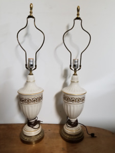 Lampes de table vintage / Vintage table lamps
