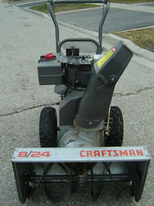 MUST SELL TOMORROW CRAFTSMAN 8/24 SNOWBLOWER SELLING CHEAP!