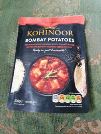 Indian Ready Meals, bombay potatoes
