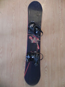 LTD snowboard with bindings for sale/150cm