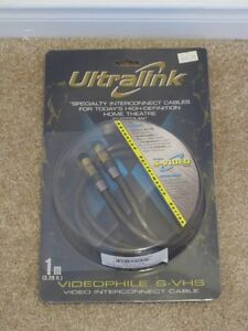 Ultralink Videophile S-Video ULVS Interconnect Cables Wires