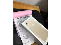 Iphone 7 Gold 256gb brandnew unlocked with apple waranty