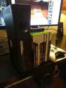 Xbox 360 + games,  controllers, WiFi adaptor